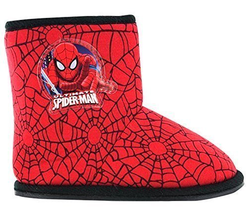 Ragazzi Marvel Spider-Man Inverno Pantofola A Stivaletto Scarpe Nere Bimbo Bambini numero EU 40 2/3 - 12 Rosso