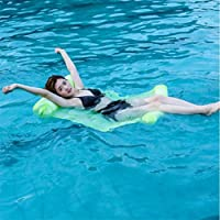Hamaca Inflable del Agua De La Fila Flotante Silla Creativa Sofá Cama del Aire Reclinable para La Playa De La Piscina De La Playa,Green