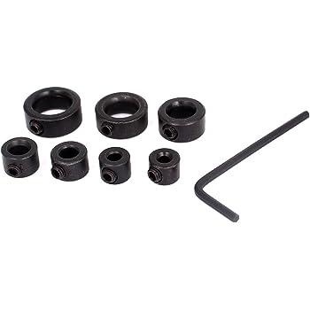 Sourcingmap/® 3mm Internal Dia Woodworking Drill Bit Depth Stop Collar Black