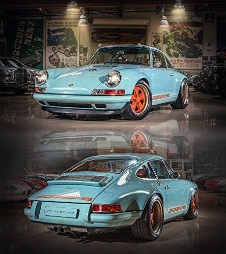 Stefan Langer - Kunst ist cool Kunst Druck Bild Singer Porsche 911 Leinwand Poster Tapete Mousepad Acrylglas Aluminium BalsaHolz Aufkleber (Aluminiumverbundplatte (3 mm), 150 mal 169 cm)