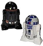 Unbekannt Design - Set: Salz & Pfefferstreuer -  Star Wars - R2-D2 & R2-Q5  - stabil aus Porzellan / Keramik - Salzstreuer Pfeffer Set - edel - lustig Tischdeko Eßtis..
