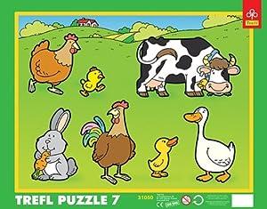 Puzzle ramkowe 7 Wiejskie zwierzeta