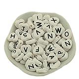 Acryl Buchstaben A-Z Perlen für DIY Ornamente von Hand