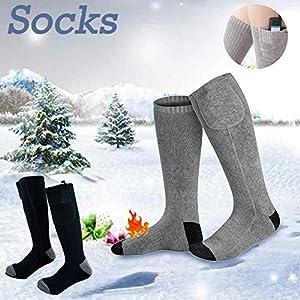PEALO Elektrische beheizte Socken mit wiederaufladbarem Akku für chronisch kalte, große Füße zum Jagen von Eisfischen, Wandern und Sportveranstaltungen