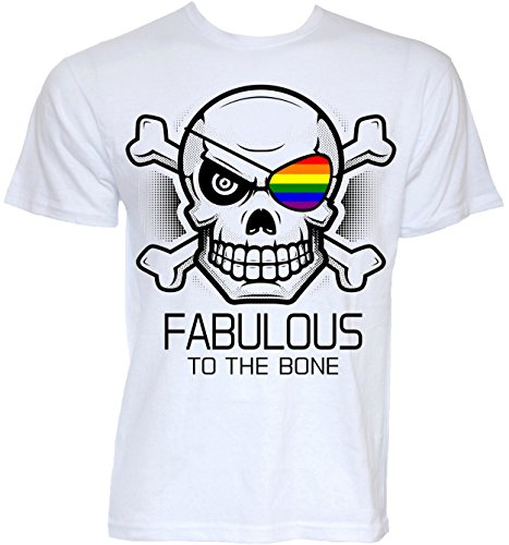 Beat Tees Clothing Mens Funny Novelty Fabulous To The Bone Gay Pride Flag Slogan T-shirts