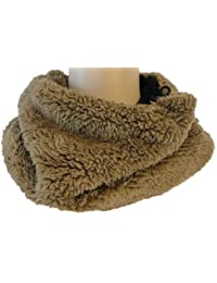 c5591b92e54f56 Rockjock Unisex Reversible Soft Faux Fur Snood / Neck Warmer / Scarf - 4  colours