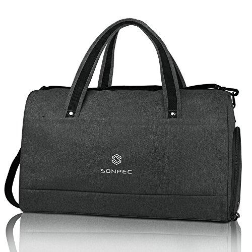 Sonpec Sporttasche für Männer & Frauen- Praktische Reisetasche mit 45l Füllvolumen und separatem Schuhfach - Geeignet als Gymtasche, Travel Bag und Fussballtasche   Handgepäck   Damen   Herren