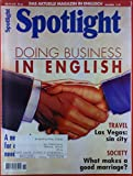 Spotlight. Das aktuelle Magazin in Englisch. November 11 / 97. Robert Gibson: doing business in english; Teresa Fisher: Adrian Fisher. One man`s amazing passion.