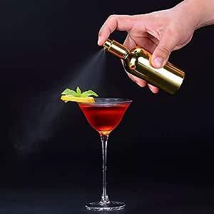 100 ml Glasspray Tropfflasche Cocktail Barkeeper Cocktail-Tools Bitter Bar-Werkzeug Glasspr/üher Wein Cocktail-Spr/ühflasche