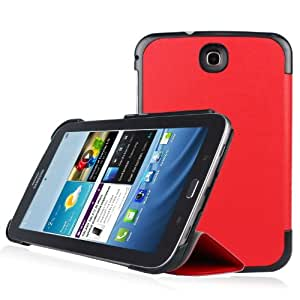 IVSO® Slim Smart Cover Housse pour Samsung Galaxy Note 8.0 Tablette (Rouge)
