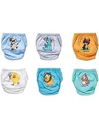 OZYOL Tiere 6er Pack Wasserdicht Baby Lernwindel Trainerhosen Unterwäsche Windeln Windelhose zum Toilettentraining Töpfchentraining