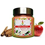 Aromakrafts Epsom Bath & Foot Spa Salt enriched with Apple Cinnamon Aroma - 250g