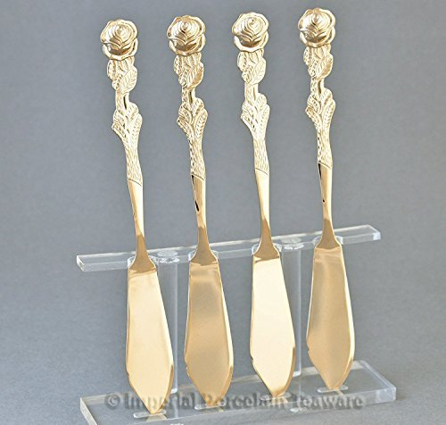 Rose Griff Butter knife-set von vier