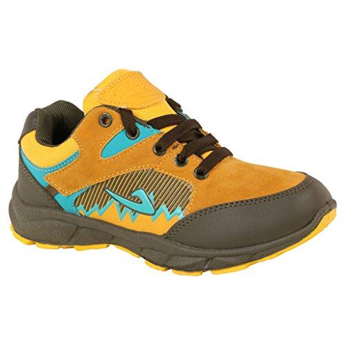Guys and Dolls Boys Mehendi Yellow Synthetic Shoes 2C UK