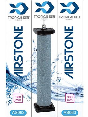 Tropical-Reef AS063Luftstein, für Koi-Teich oder Aquarium, 50x 300mm, Keramik-Zylinder, rund, Ausströmersteine, Stein-Diffusor