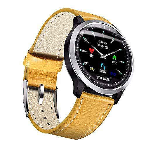 Smart Armband EKG Multifunktions Sportuhr PPG + EKG-Monitor HRV Bericht Blutdruck Herzfrequenz Test Ältere Armband Wasserdicht Männer Und Frauen Armband,Beige