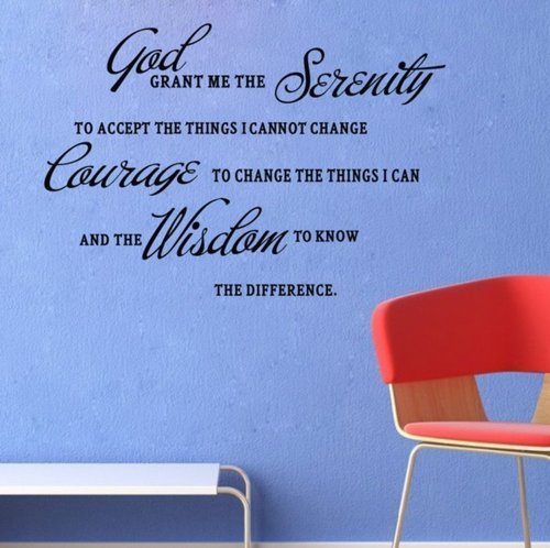 Click Down God Grant Me The Serenity Prayer Bible Art Quote Vinyl Wall Stickers Decal Decor by Click Down (Serenity Prayer Home Decor)