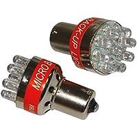 Aerzetix - Set di 2 lampadina 9LED retromarcia auto alogena 24V con allarme retromarcia.
