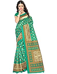 e84dfd0614 Jaanvi fashion Women's Mysore Art Silk Saree with Unstitched Blouse