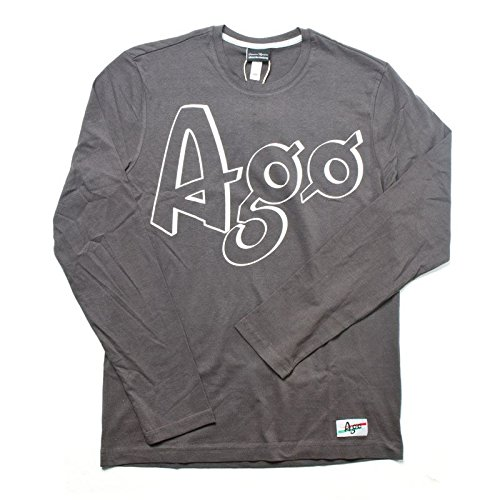 T-shirt Mention Manica Lunga Giacomo Agostini, Colore: Dark Grey, Taglia: XL