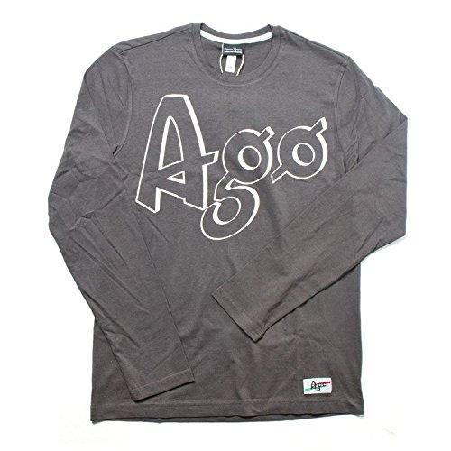 T-shirt Mention Manica Lunga Giacomo Agostini, Colore: Dark Grey, Taglia: XL