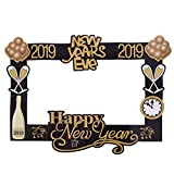 Amosfun Photo Anno Booth Puntelli Photo Frame 2019 Felicità Capodanno Forniture per Feste