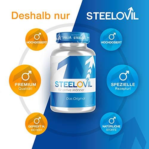 **NEU** Original STEELOVIL® – Für MÄNNER – 60 Kapseln | Neutrale Verpackung! | 100% GELD-ZURÜCK-GARANTIE - 4