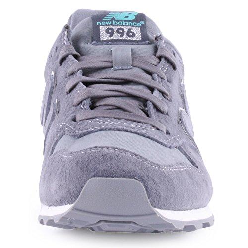 New Balance 996 Mädchen Sneakers Grau, Weiß