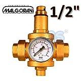 Riduttore di pressione acqua 1/2' F-F con manometro