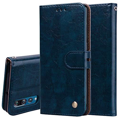 Obamono Brieftaschenetui für Huawei P30, [Folio Stil] Prämie-Kartenetuis Ständerfunktion Brieftasche Abdeckung Abdecken für Huawei P30 [Blau] (Portfolio Abdecken)