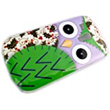 Samsung Galaxy S3 Mini i8190/chouette verte I8200 Owl Hard Case de protection Housse Cover Etui thematys®