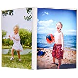 SYB Angled Acrylic Table Top Picture Frame, EMF Protection Shield, Holds Two 12.7cm x 17.8cm (5x7 inch) Photos