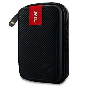 TIZUM TZ-HDD-BLK 2.5-inch Double Padded External Hard Drive Case (Black)