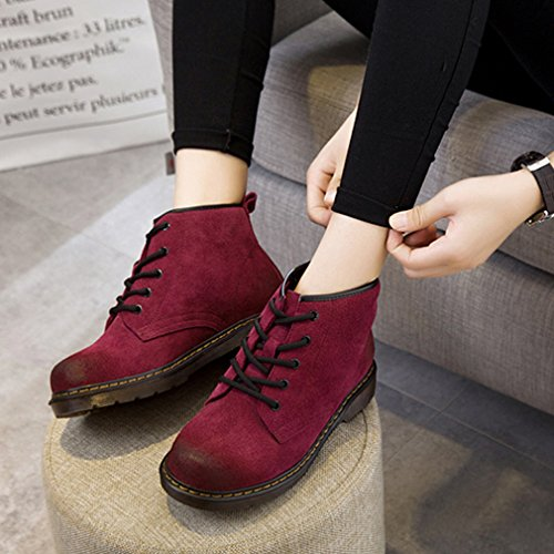 Solshine , chaussures compensées femme Fuchsie 1(Mit Fell)