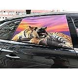 ETbotu faltbar Auto Visier für Fenster, mit Loch für Hunde, für Haustiere, zum Aufhängen, hält Pets, 70x 50cm, Gewicht: 300g, mit independant Tag Order Notes Tigers