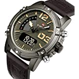 Naviforce Casual Watch For Men Analog-Digital Leather - NF0095