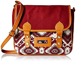 Kanvas Katha Womens Handbag (Maroon) (KKBSTAJ001)