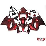 VITCIK (Kit de Carenado para Honda VFR800 RC46 2002 - 2012 VFR800RC46 02 - 12) Accesorios de repuesto para bastidor y carrocería con completo para motocicleta y moldeo por inyección en ABS(Rojo) A003