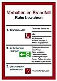 LEMAX® Schild PVC Verhalten im Brandfall Ruhe bewaren 297x210mm