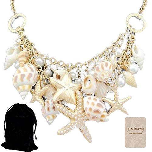 jiuhong-fashion-gold-chunky-tone-sea-shell-starfish-faux-pearl-bib-statement-necklace