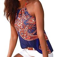 Chaleco de Mujer❤️EUZeo❤️Sexy Halter sin Mangas Boho Camisola Tops Casual Camisa de Verano Camiseta Mujer Básica Top Mujer de Chalecos T-Shirt Camisas Blusas