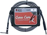3 Meter Braided Right Angled Jack Guitar Cable Lead