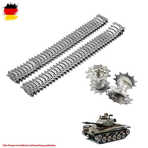 HSP Himoto Original Metallketten und Metallräder Upgrade Kit für Henglong M41A3 Walker Bulldog RC...