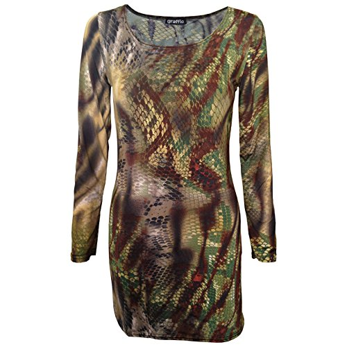 snake-skin-reptile-printed-mini-midi-bodycon-tunic-dress-s-m-to-fit-uk-8-10