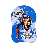 AKANAR Captain America Avengers Printed Metal Piggy Bank Coin Box Money Box for Kids with Lock (Set of 1 - Blue Colour…