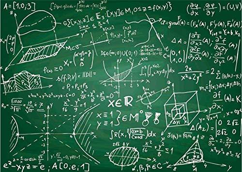 Benutzerdefinierte 3D Tapete Wohnzimmer Kreative Tafelkreide Mathematische Formel Tapeten Wohnkultur Tv Hintergrund Bar Studie-375cm(W) x250cm(H) - Jahrhunderts Formel