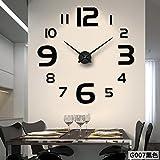 Aemember Acryl Wanduhr_Amazon neue Spiegel Große Wanduhr Wall-Clock Diy Acryl Großhandel, Schwarz G007