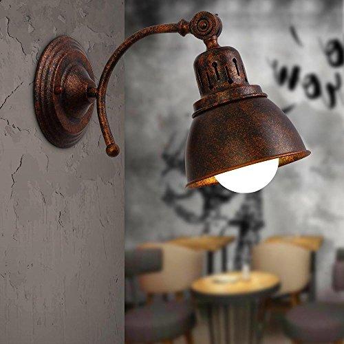 Vintage lampada da parete,illuminazioni per pareti,rustiche leuchten faretto retro vintage,regolabile, luce da muro,max. 40 w, montaggio e27(lampadina non compreso)