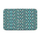 DKISEE tapete de Piso para Interior y Exterior con diseño geométrico, 20x31.5