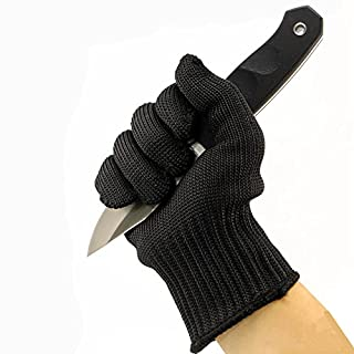 Gants de Travail Anti-Coupure Fibres d'acier Inoxydable Gants de Protection Niveau 5 Certifié EN 388 Gants de Mécanicien Jardinage Barbecue Cuisine Sécurité Anti-statique Résistant